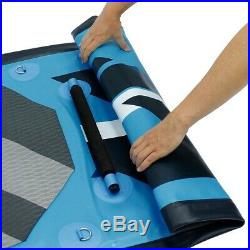 SUP stand up paddle board 10ft inflatable surfboard paddleboard blue kayac +seat