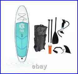 Soft top air inflatable sup paddle board with fins (paddleboard) GQ NEW UK 96