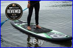 Stand Up Paddle Board Inflatable 9.7ft ULTIMATE PACK Green Riber