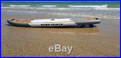 Surf Shack 11' Wood Design Inflatable Stand up Paddleboard Paddle Board (SUP)