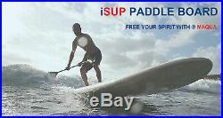 TOP Product MAQUA 10' 2 Inflatable Stand Up Paddle Board SUP Surf Paddleboard