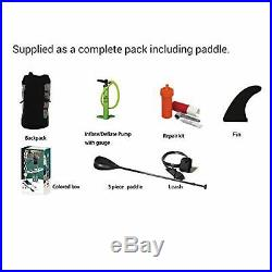 Tiki Rambler 12ft 6 Inflatable SUP + 3Pce Black Paddle + Leash + Stand Up Board