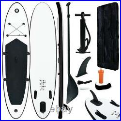 VidaXL Inflatable Stand Up Paddleboard Set Black and White Sport SUP Board Set