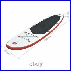 VidaXL Stand Up Paddle Board Set Inflatable 360cm Red and White SUP board sets