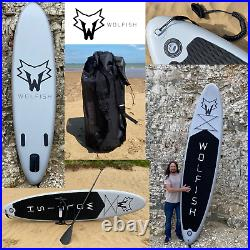WOLFISH SPORTS 11ft Stand Up Paddle Board / Inflatable SUP Complete Package
