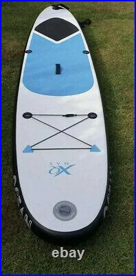 Xq Max Stand Up Paddle SUP Board Blue Inflatable & Paddle Pump Bag 10ft Blue